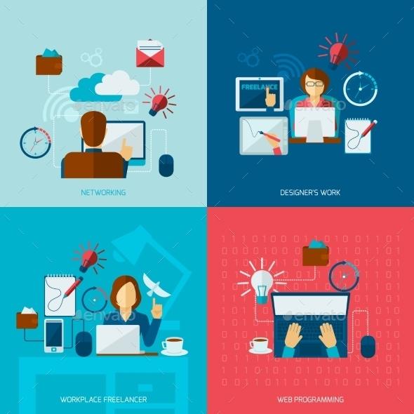 Freelance Flat Set - Concepts Business