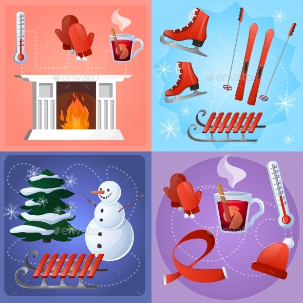 Winter Flat Set - Miscellaneous Seasons/Holidays