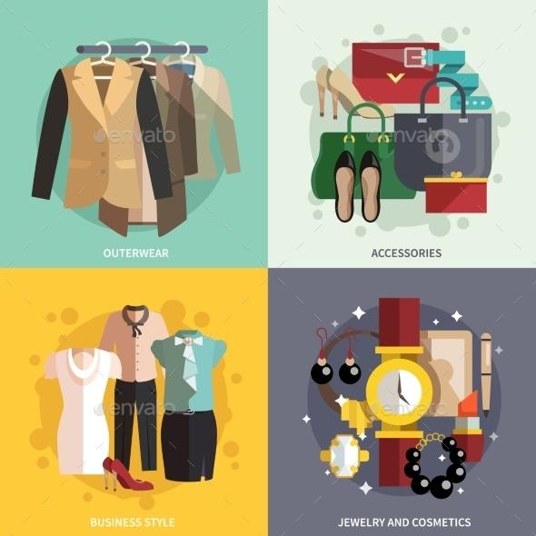 Clothes Icons Flat - Miscellaneous Vectors
