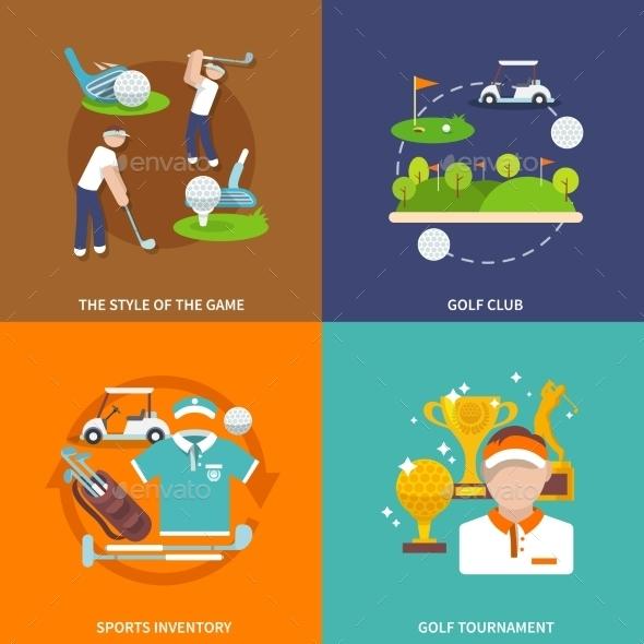 Golf Flat Set - Sports/Activity Conceptual