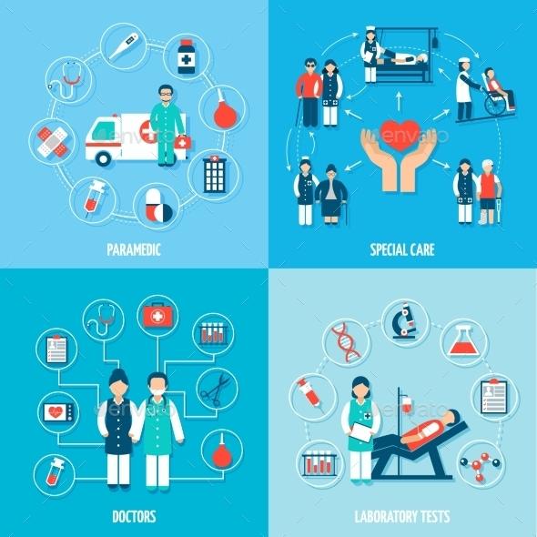 Medical Personnel Set - Health/Medicine Conceptual