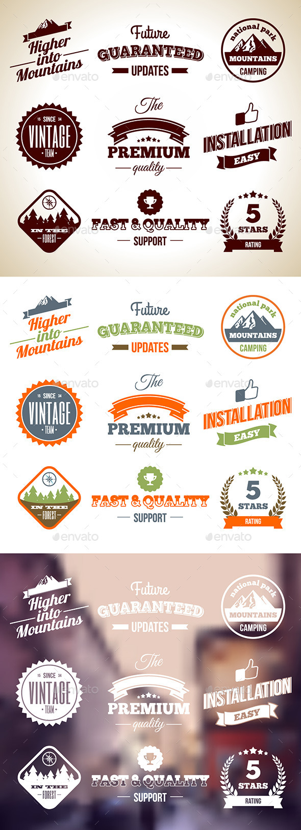 Vintage Badges. Premium labels. Hight Quality Design Elements - Decorative Symbols Decorative