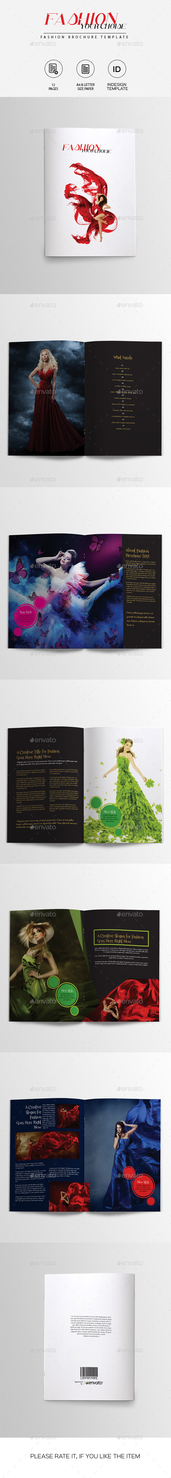 Fashion Brochure Template - Catalogs Brochures