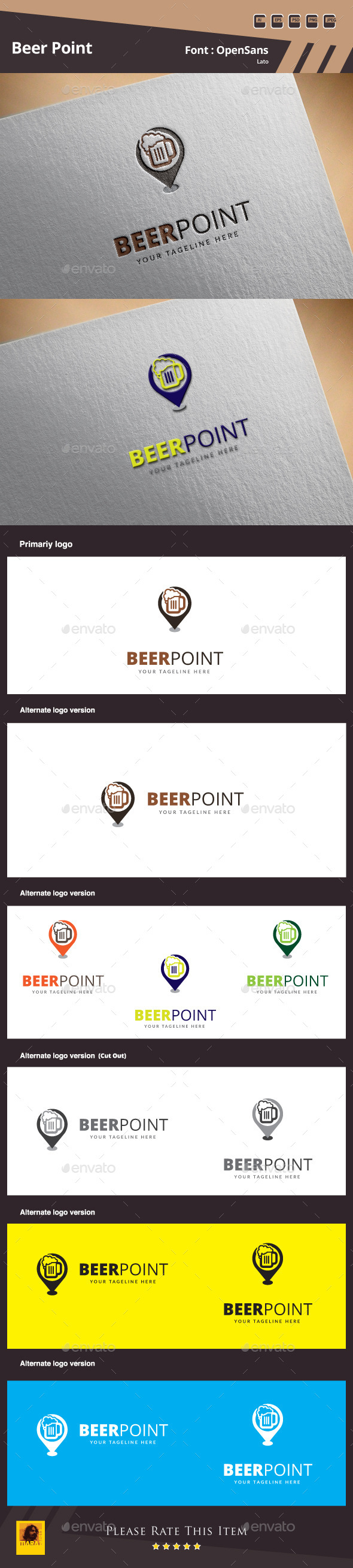Beer Point Logo Template - Food Logo Templates
