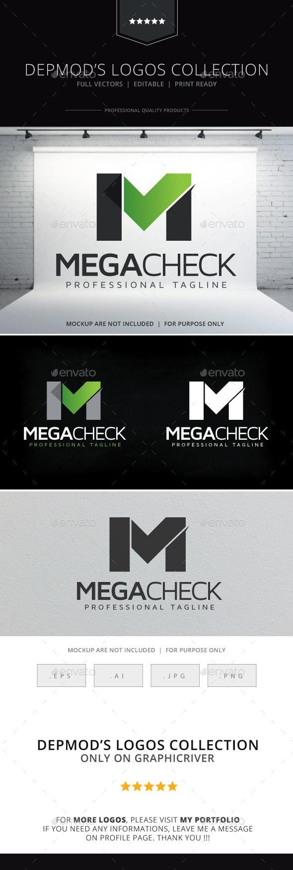 Mega Check Logo - Letters Logo Templates