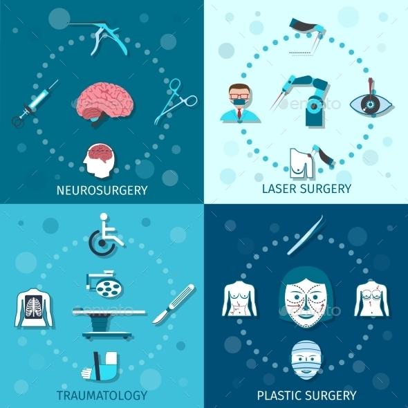Medical Surgery Set - Health/Medicine Conceptual