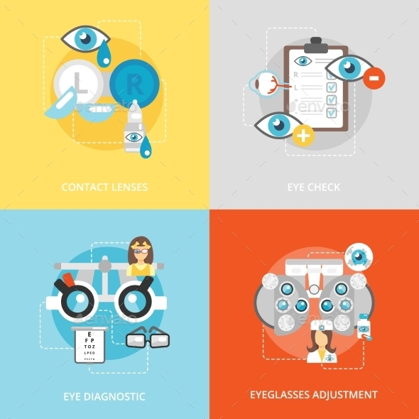 Oculist Flat Icons - Health/Medicine Conceptual