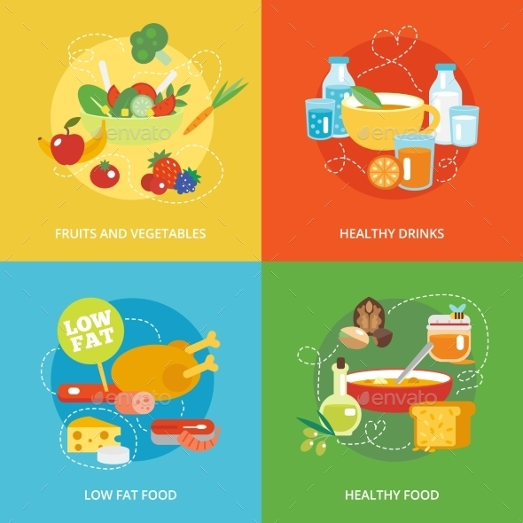 Healthy Eating - Food Objects