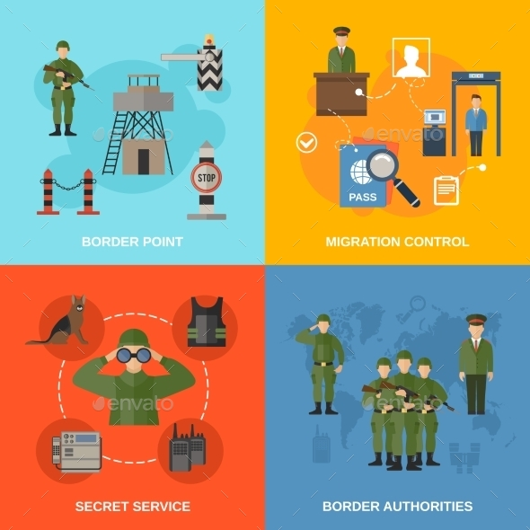 Border Guard Flat - Web Elements Vectors