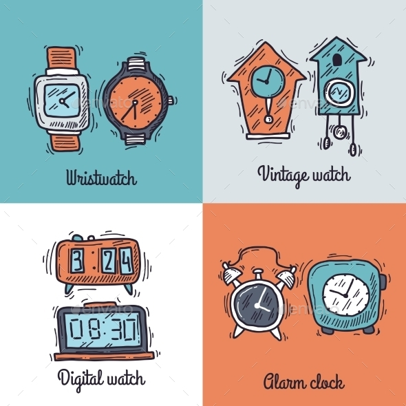 Clock Design Concept - Retro Technology