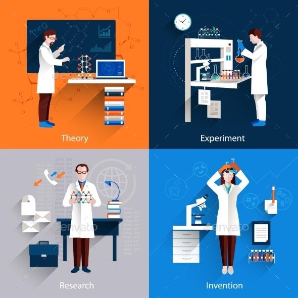 Science Icons Set - Miscellaneous Vectors
