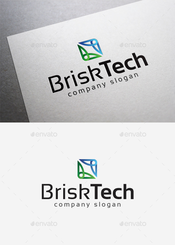Brisk Tech Logo - Abstract Logo Templates