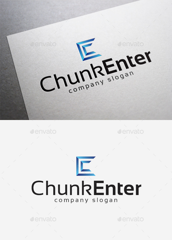 Chunk Enter Logo - Letters Logo Templates