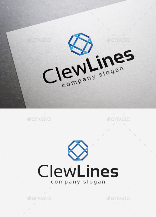Clew Lines Logo - Abstract Logo Templates