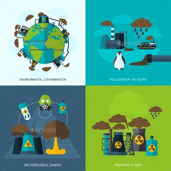Pollution Icons - Nature Conceptual