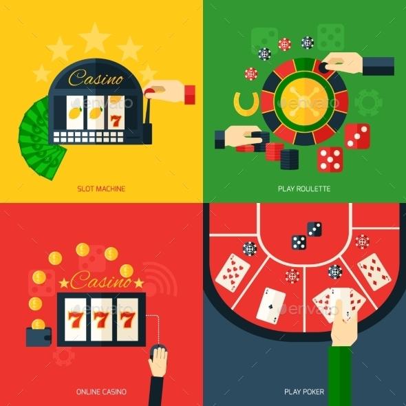 Casino Icon Flat - Miscellaneous Vectors