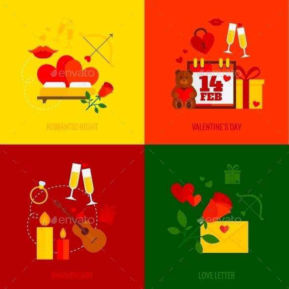 Romantic Design Concept - Miscellaneous Vectors