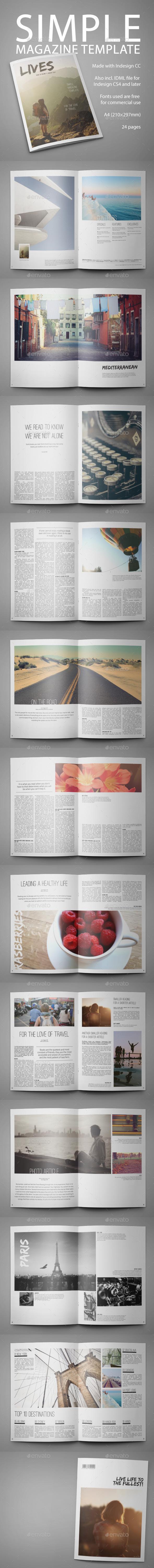Simple Multipurpose Magazine Template - Magazines Print Templates