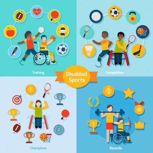 Disabled Sport Set - Sports/Activity Conceptual