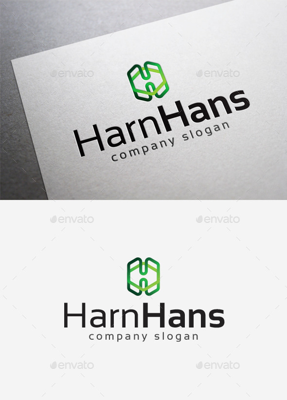 Harn Hans Logo - Letters Logo Templates