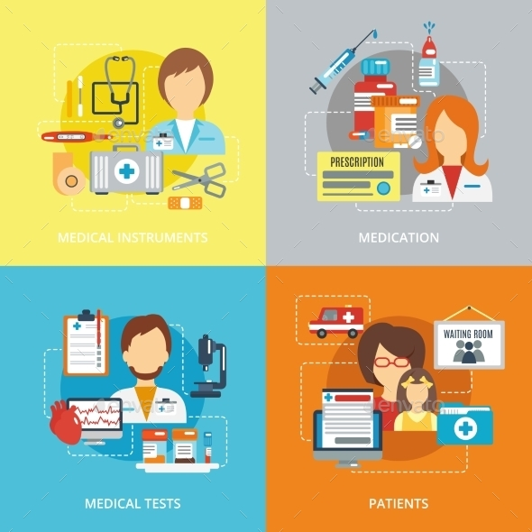 Doctor Flat Set - Health/Medicine Conceptual