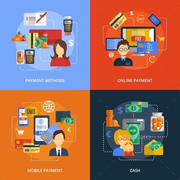 Payment Flat Set - Business Conceptual