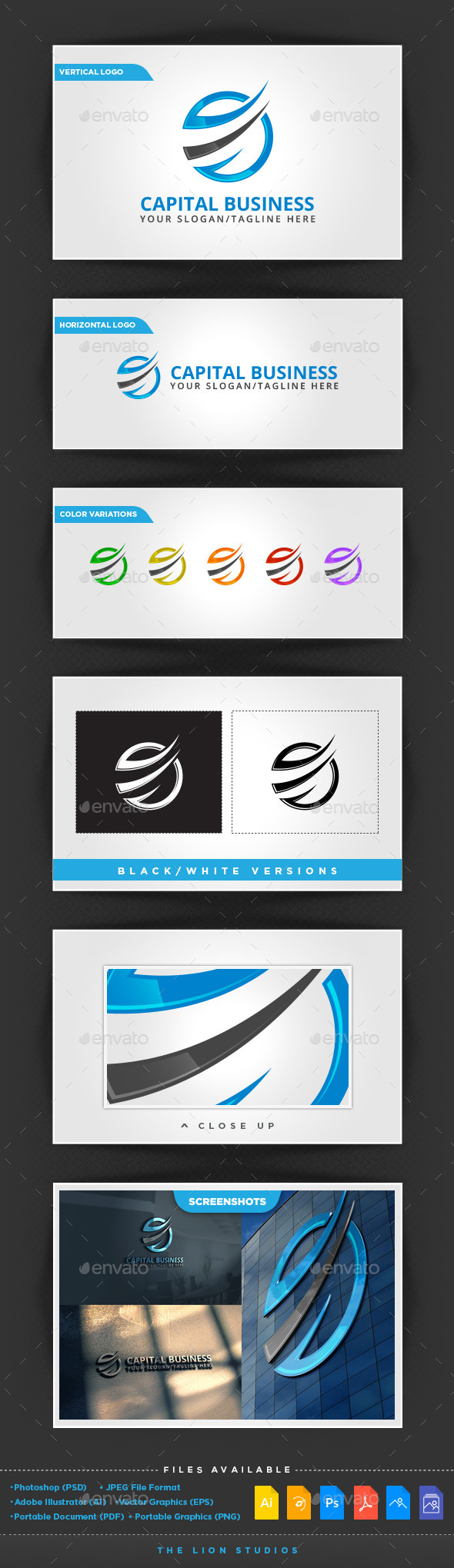 Capital Business - Abstract Logo Templates