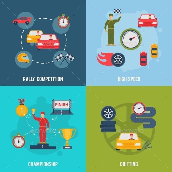Auto Sport Flat - Miscellaneous Vectors