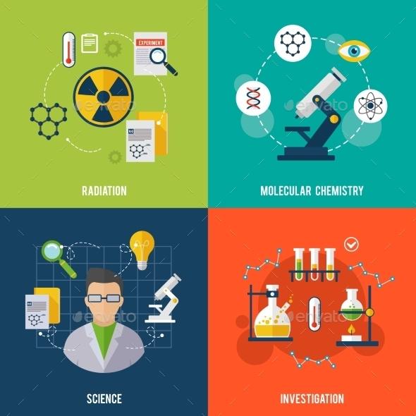 Chemistry Flat Set - Miscellaneous Vectors
