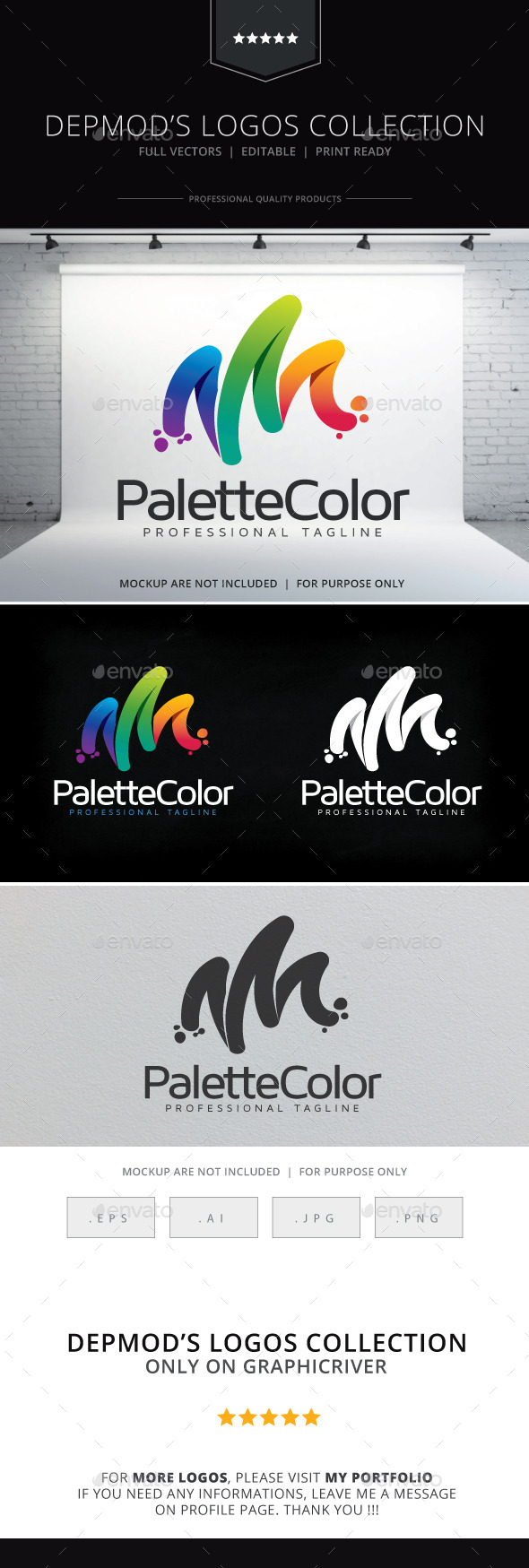 Palette Color Logo - Abstract Logo Templates