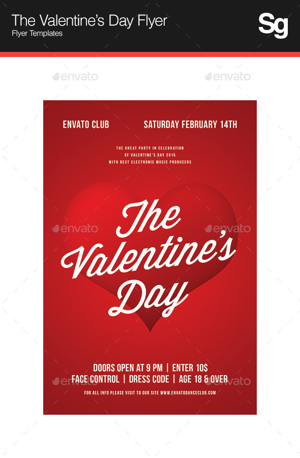 The Valentine's Day Flyer - Clubs & Parties Events