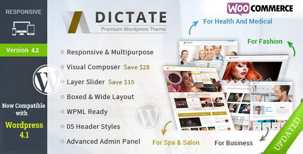 Dictate – Business, Fashion, Medical, Spa WP Theme