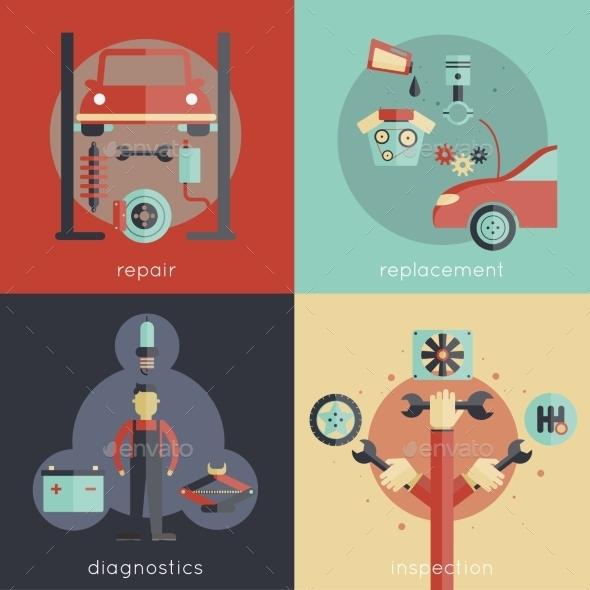 Auto Service Flat - Technology Conceptual