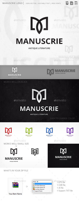 Manuscrie Letter M Logo Template - Letters Logo Templates