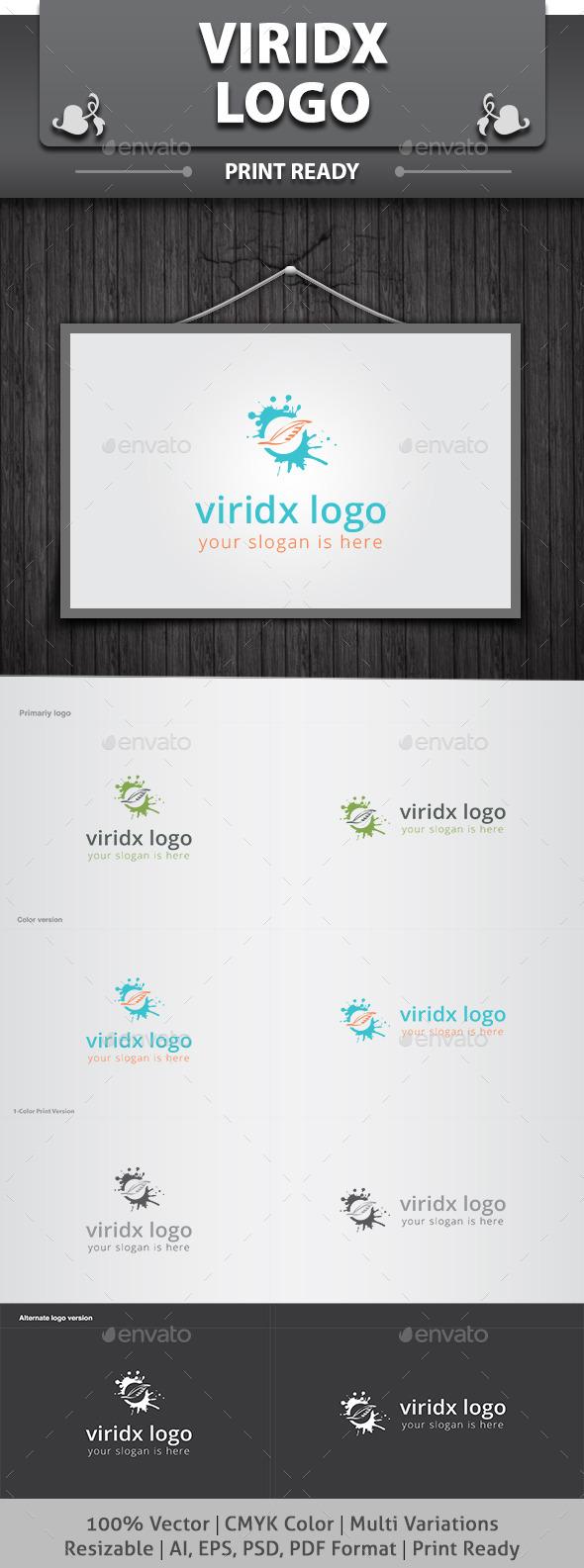 Viridx Logo - Nature Logo Templates