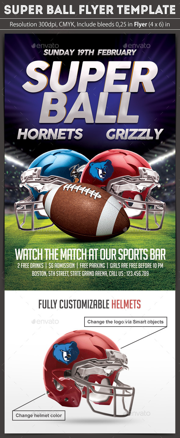 Super Ball Flyer - Sports Events