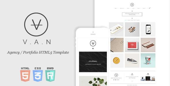 VAN – Minimal Agency / Portfolio HTML5 Template