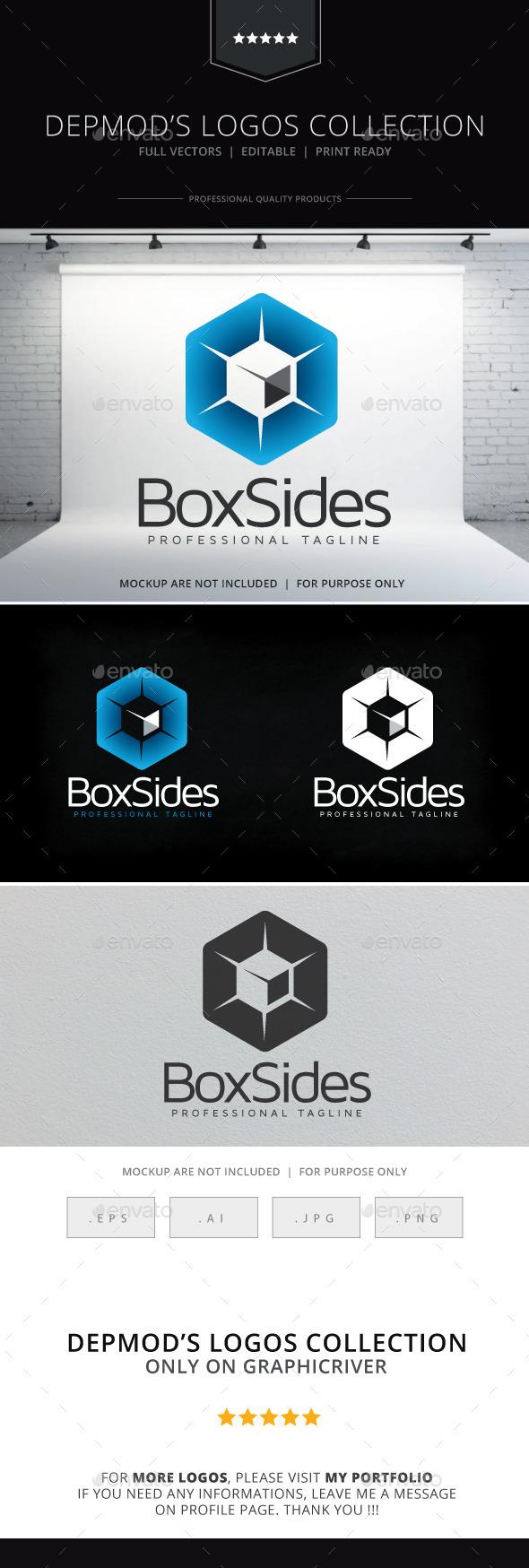 Box Sides Logo - Symbols Logo Templates