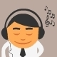 Listening Music - GraphicRiver Item for Sale