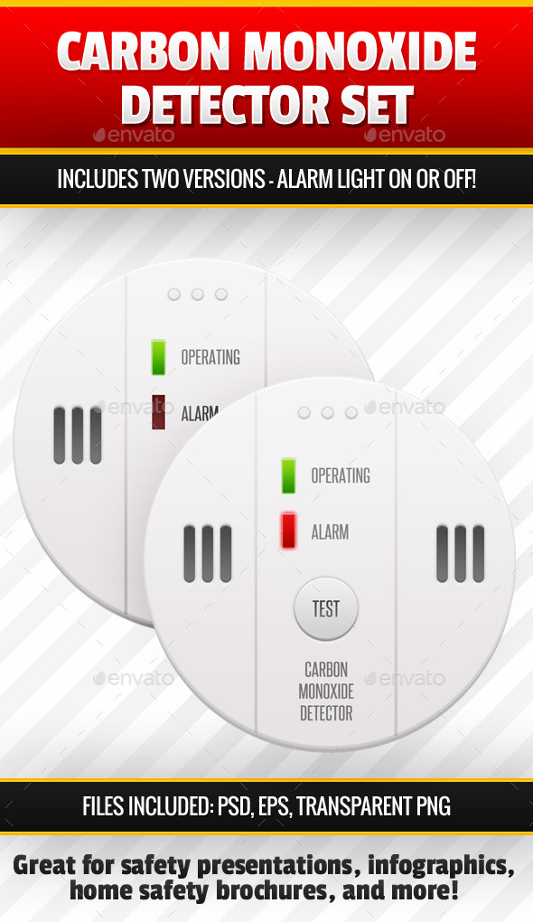 Carbon Monoxide Detector Image Set - Objects Illustrations