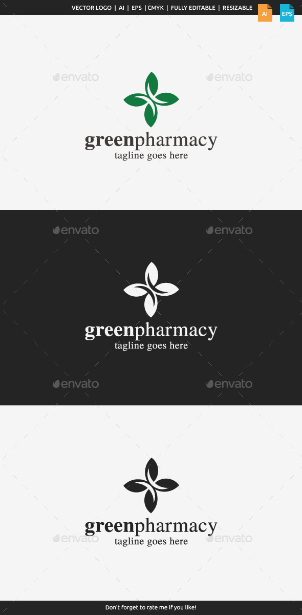 Green Pharmacy Logo - Nature Logo Templates