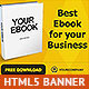 Gold Ebook HTML5 Animated Banner - CodeCanyon Item for Sale