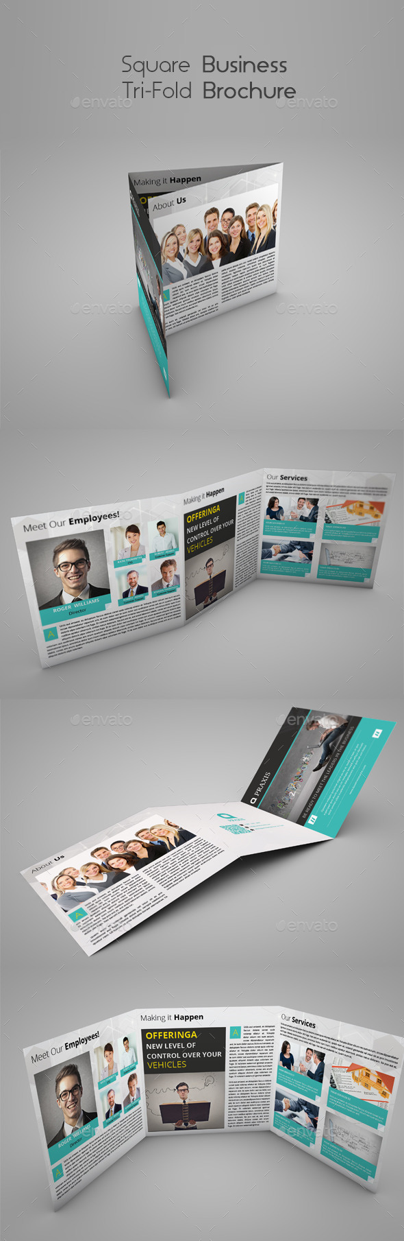 Square Business Tri-Fold Brochure - Brochures Print Templates