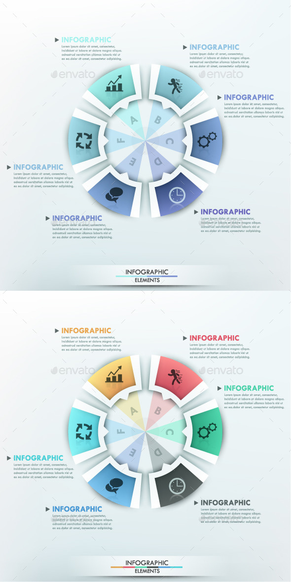 Moderne Infographic Options Circle Template - Infographics