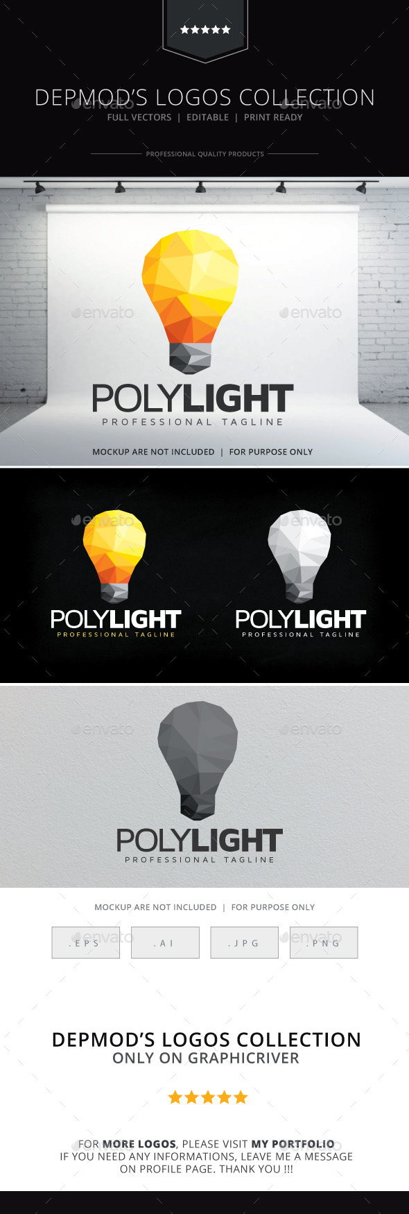 Poly Light Logo - Symbols Logo Templates