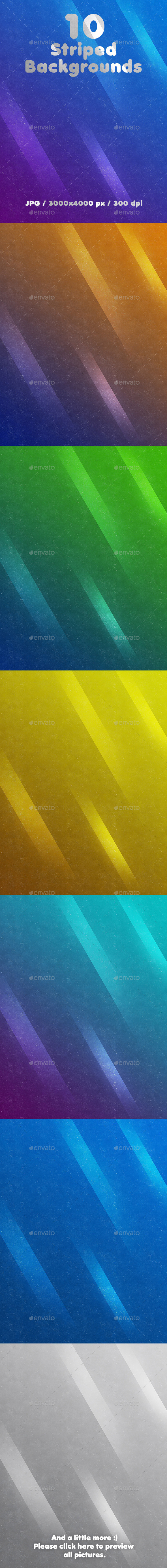 10 Striped Backgrounds - Abstract Backgrounds