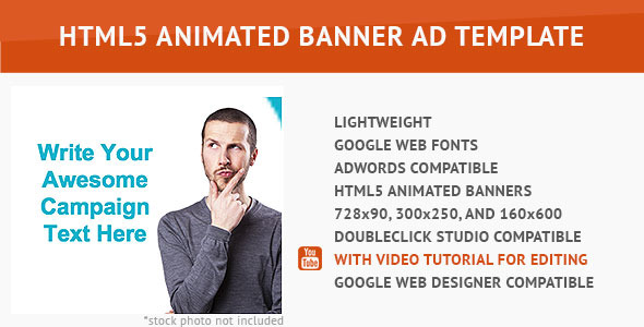 Minimalist HTML5 Animated Banner - CodeCanyon Item for Sale
