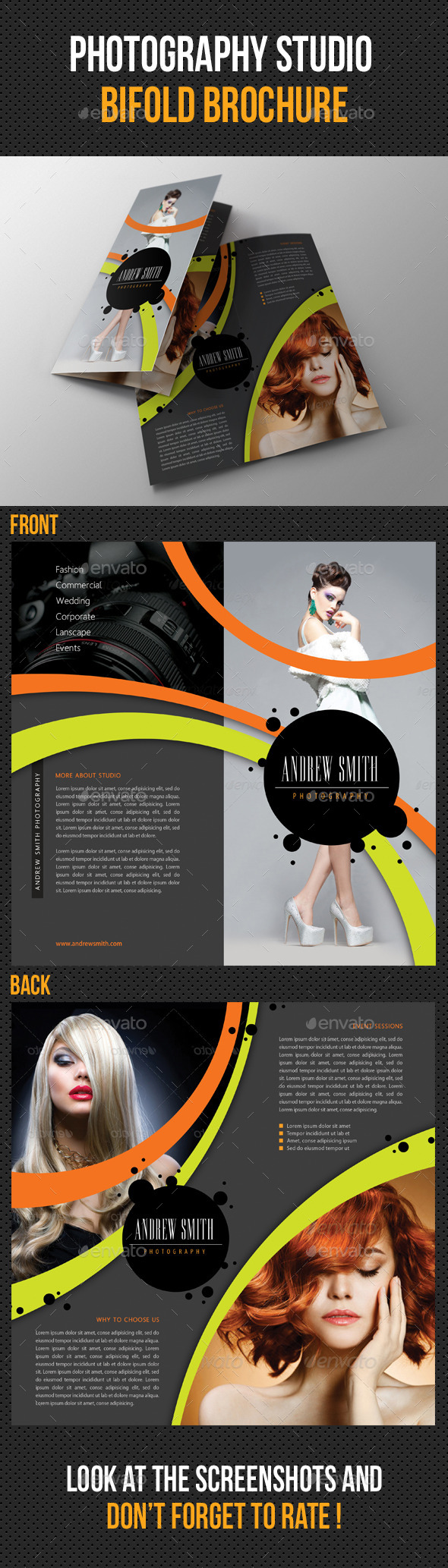 Photography Studio Bifold Brochure 04 - Portfolio Brochures