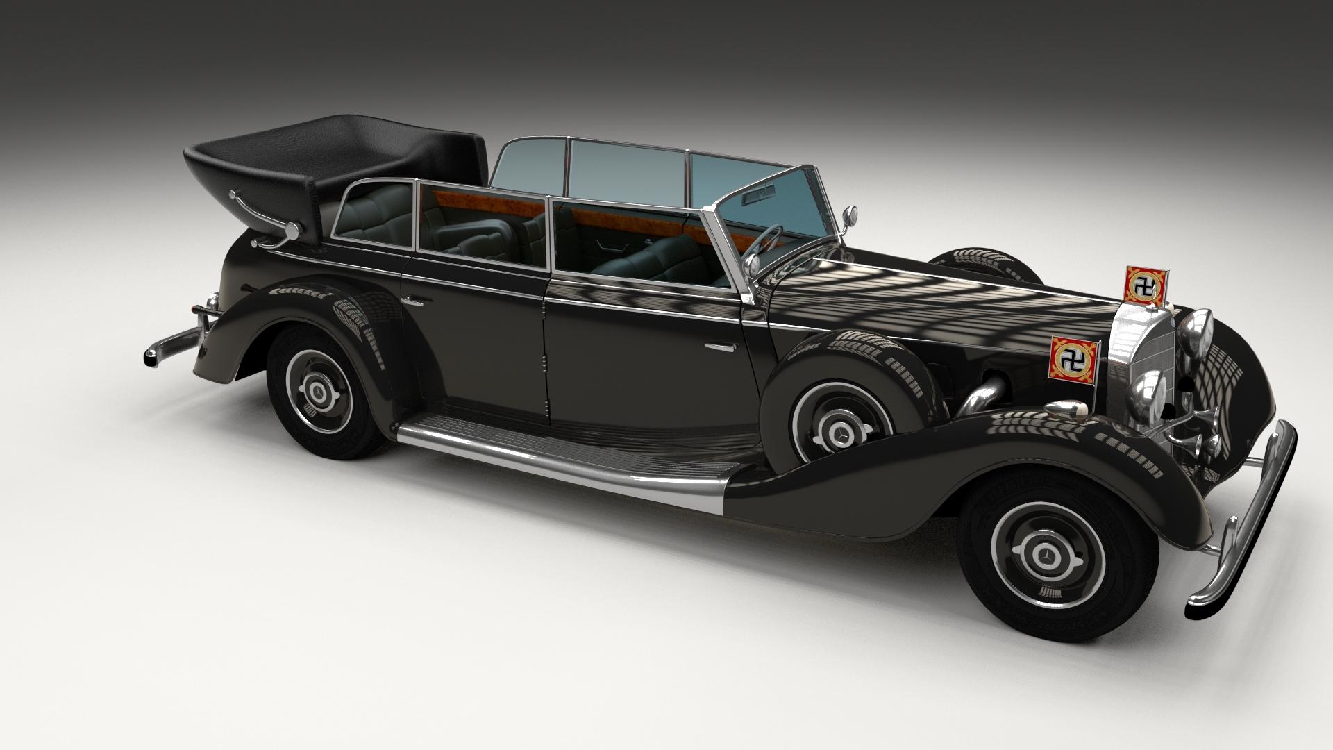 mercedes 770k grosser nazi staff car by dragosburian 3docean. Black Bedroom Furniture Sets. Home Design Ideas