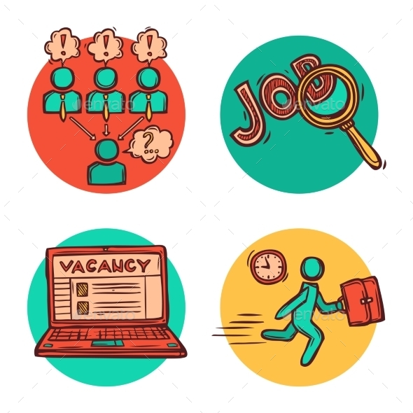 Job Business Concept Icons Composition - Concepts Business